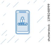 blue mobile phone and password... | Shutterstock .eps vector #1398248999