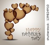 happy father's day vector... | Shutterstock .eps vector #139824910