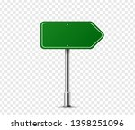 realistic arrow traffic sign on ...   Shutterstock .eps vector #1398251096