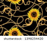 hand drawn baroque striped... | Shutterstock .eps vector #1398254420