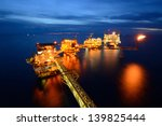 the  large offshore oil rig at...   Shutterstock . vector #139825444