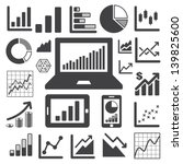 business graph icon set... | Shutterstock .eps vector #139825600