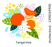 fresh tangerine tropical exotic ... | Shutterstock .eps vector #1398269900