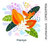 fresh papaya tropical exotic...   Shutterstock .eps vector #1398269906