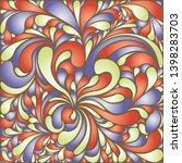 silk texture fluid shapes ...   Shutterstock .eps vector #1398283703