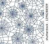 spiderweb seamless pattern....   Shutterstock .eps vector #1398288509