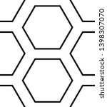 black ink hexagon seamless... | Shutterstock . vector #1398307070