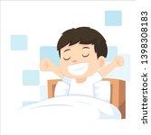 children wake up in the morning ... | Shutterstock .eps vector #1398308183