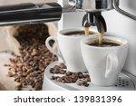 Coffee Machine Makes Two Coffee ...