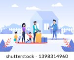 married couple with children... | Shutterstock .eps vector #1398314960