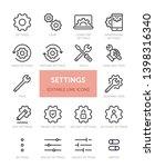 set of settings related vector...   Shutterstock .eps vector #1398316340
