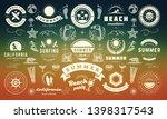 summer labels and badges design ... | Shutterstock .eps vector #1398317543