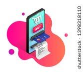 online shopping vector... | Shutterstock .eps vector #1398318110