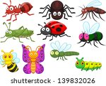 insect cartoon collection set | Shutterstock .eps vector #139832026