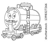 colouring page. cute cartoon... | Shutterstock .eps vector #1398327266