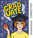 concept of a graduating class.... | Shutterstock .eps vector #1398327419