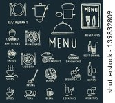restaurant menu design elements ... | Shutterstock .eps vector #139832809