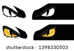 evil yellow eyes staring from... | Shutterstock .eps vector #1398330503
