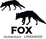 fox silhouette. vector... | Shutterstock .eps vector #1398348200