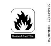 flammable material sign. flat... | Shutterstock .eps vector #1398349970