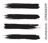 brush stroke set isolated on... | Shutterstock .eps vector #1398368249