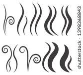 set of hand drawn smoke steam...   Shutterstock .eps vector #1398368843