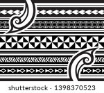 tribal pattern tattoo ... | Shutterstock .eps vector #1398370523