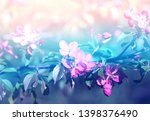 beautiful photo of pink spring... | Shutterstock . vector #1398376490