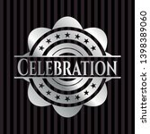 celebration silvery badge or... | Shutterstock .eps vector #1398389060