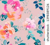 summer seamless pattern with... | Shutterstock .eps vector #1398389126