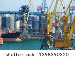 industrial port  infrastructure ... | Shutterstock . vector #1398390320