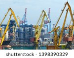 industrial port  infrastructure ... | Shutterstock . vector #1398390329