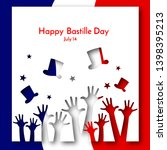 patriotic background flag of... | Shutterstock .eps vector #1398395213