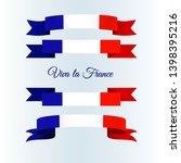 ribbon icons flag of france on... | Shutterstock .eps vector #1398395216