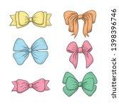 set of vintage hand drawn... | Shutterstock .eps vector #1398396746