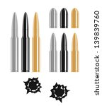 black,bullet,bullet hole,danger,design element,gold,grey,protection,security,shooting,sign,silver,symbol,vector,weapon