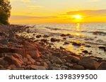 beautiful sunset on the coast... | Shutterstock . vector #1398399500