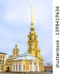 peter and paul cathedral on the ... | Shutterstock . vector #1398419636
