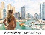 Woman In Dubai Marina  United...