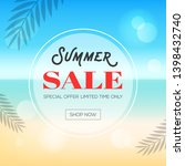 summer sale  summer beach... | Shutterstock .eps vector #1398432740