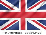 fabric flag of united kingdom | Shutterstock . vector #139843429