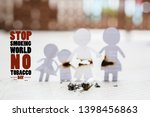 paper cut of family destroyed... | Shutterstock . vector #1398456863