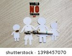 paper cut of family destroyed... | Shutterstock . vector #1398457070