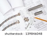 plumbing and drawings are on... | Shutterstock . vector #139846048