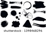 a set of grunge ink drops.... | Shutterstock .eps vector #1398468296