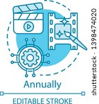 annually concept icon. video... | Shutterstock .eps vector #1398474020