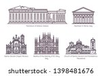 set of isolated central... | Shutterstock .eps vector #1398481676
