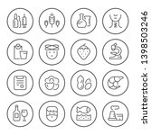 set round line icons of allergy ... | Shutterstock . vector #1398503246