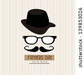 Fathers Day Design Over Grunge...