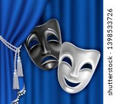 theatrical mask.  black and... | Shutterstock .eps vector #1398533726